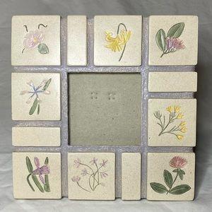 Ceramic Flower Photo Frame